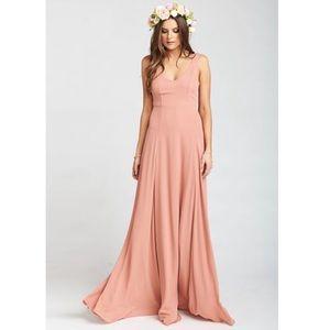 Show Me Your Mumu Jenn VNeck Maxi Gown Dusty Mauve